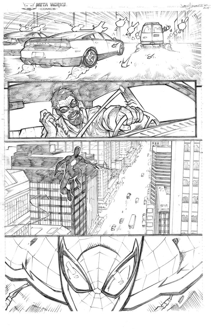 Spider-man Marvel page submission pencils by JoeyVazquez