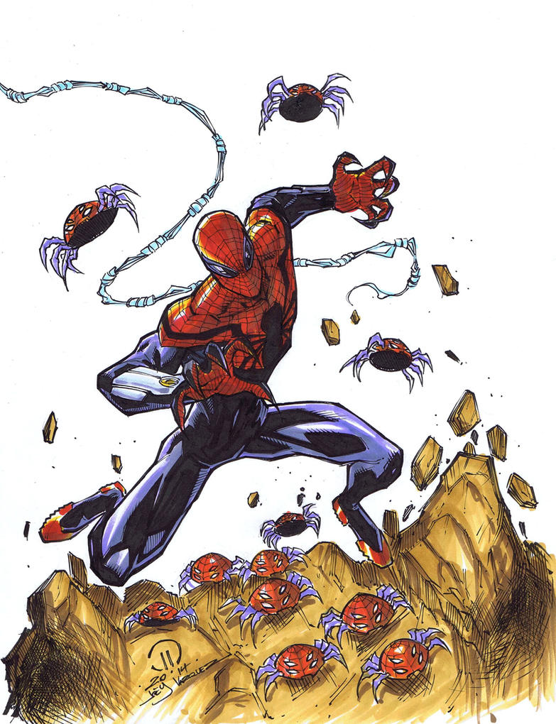 Superior spidey sketch markers by JoeyVazquez