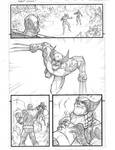 Marvel Avengers page 2 pencils