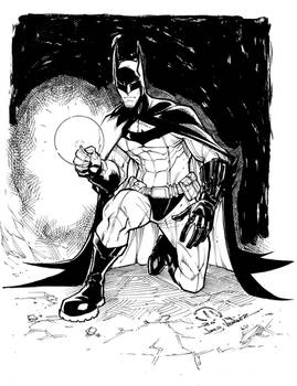 Batman detective mode inked pre-order sketch