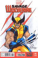 Savage wolverine C2E2 sketch by JoeyVazquez