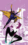 Spider Gwen and Batgirl thumbnail sketch