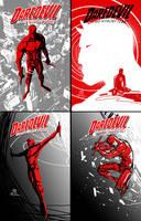 DareDevil digital thumbnail sketches by JoeyVazquez
