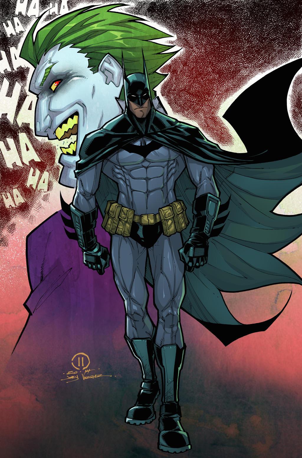 Batman and Joker by JoeyVazquez
