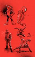 Spider-Verse sketches by JoeyVazquez