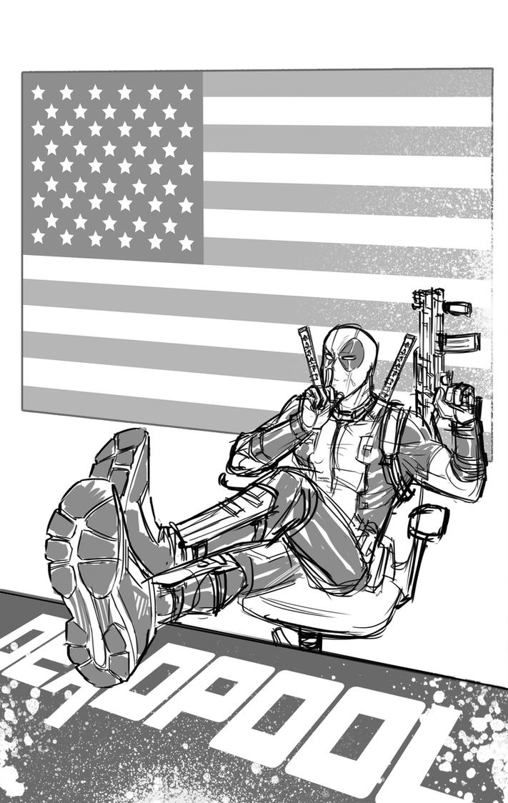 DeadPool commission layout by JoeyVazquez