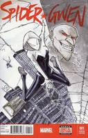 Spider-Gwen Sketch cover by JoeyVazquez