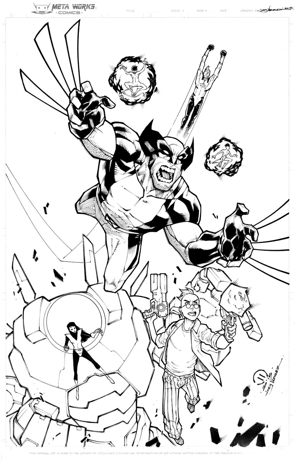 Wolverine and the X-men 2 inks by JoeyVazquez