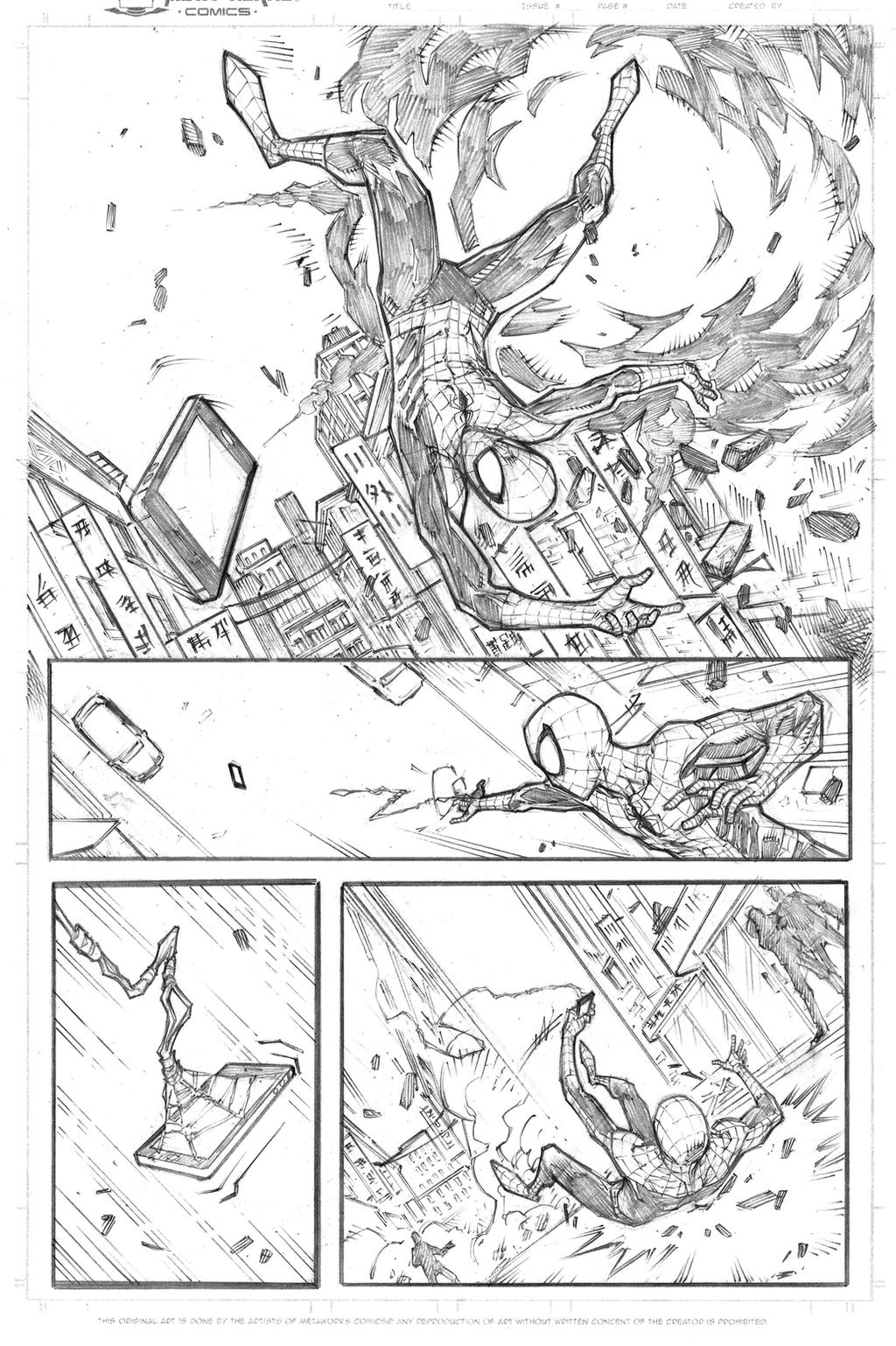 Marvel spidey sample page 1 pencils by JoeyVazquez