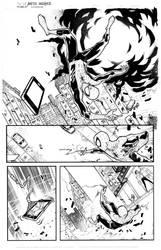 Marvel spidey sample page 1 inks by JoeyVazquez