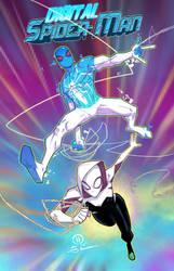 Digital Spider-man and Spider-gwen team up