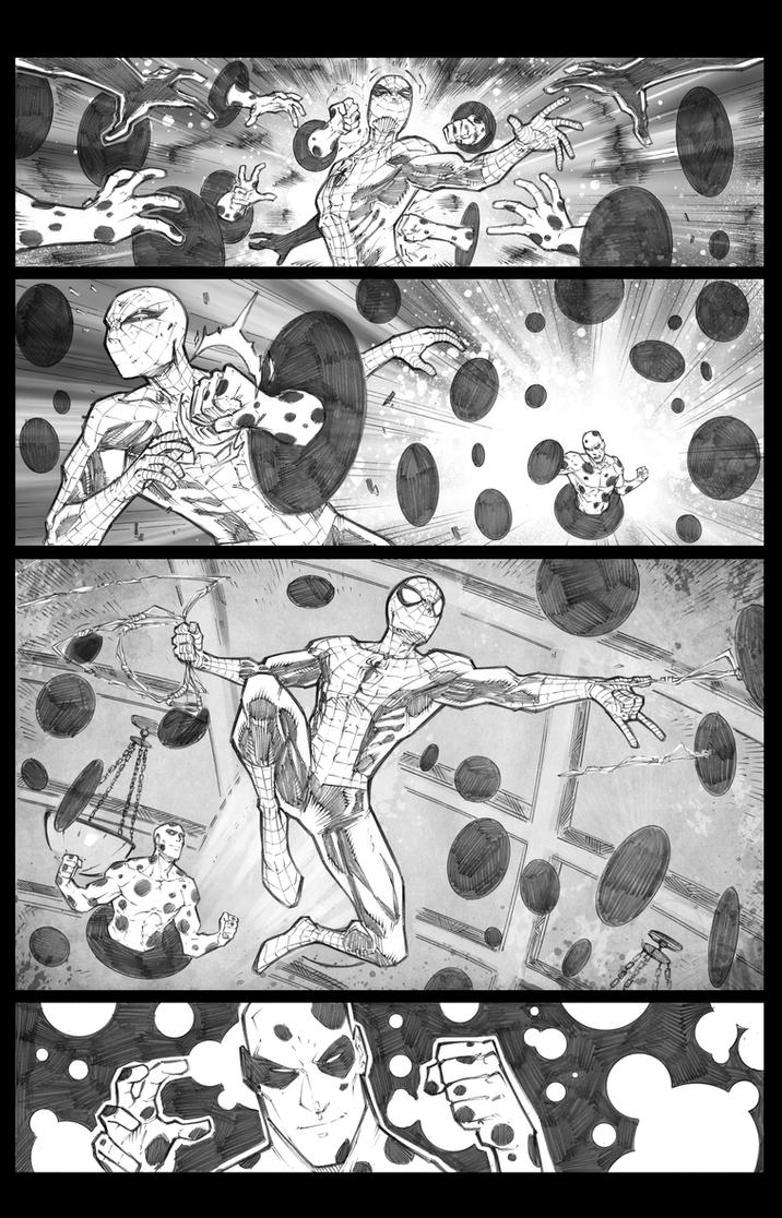 Spidey vs the Spot sample page 2 digital touch by JoeyVazquez