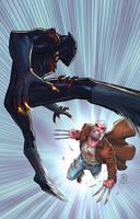 Black panther vs Old man logan by JoeyVazquez
