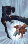 Black panther vs Old man logan