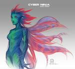 Cyber ninja alien spirit concept