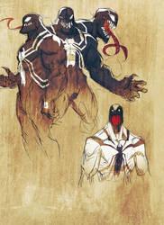 Venom digital sketches by JoeyVazquez