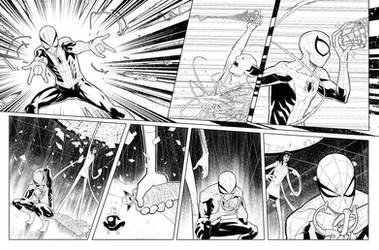 Marvel team up issue 1 page 20 inks