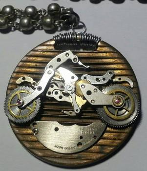 Watch Parts Motorcycle Pendant by randomasusual