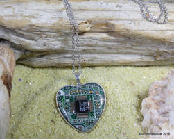 Aug. 31, 2016 - Circuit Board Heart Necklace