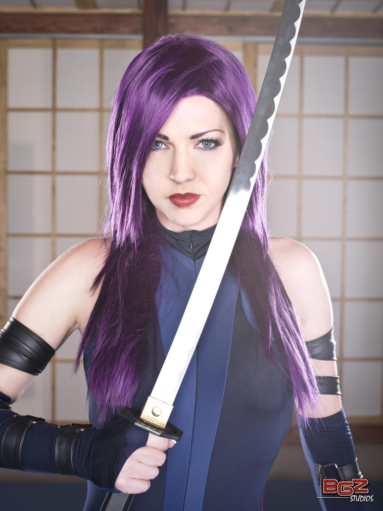 Psylocke in Training 2 by bgzstudios