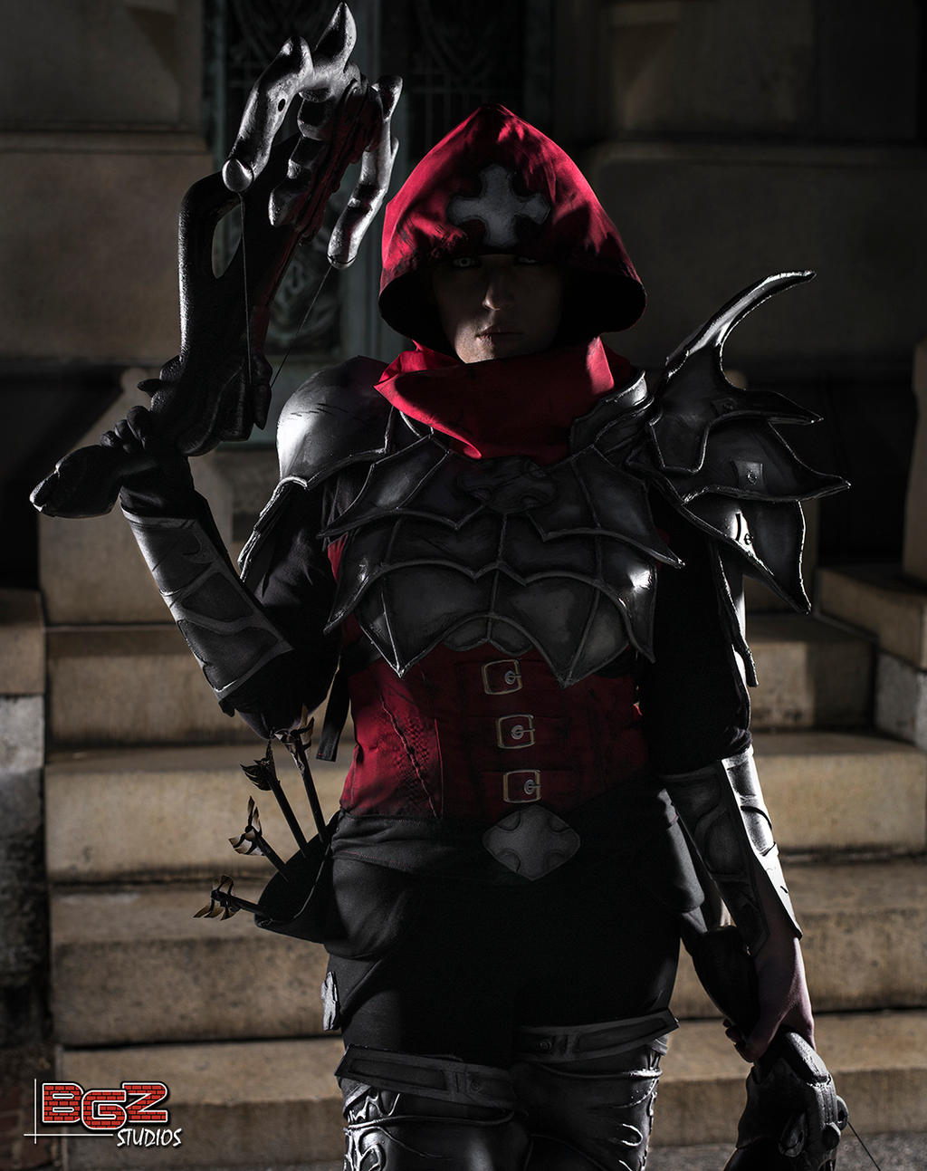 Demon Hunter Cosplay - Prowling the Cemetery 2 by bgzstudios