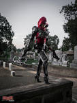 Demon Hunter Cosplay - Prowling the Cemetery 3