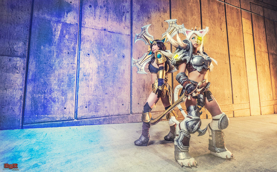 Rengar and Sivir LoL Cosplay - Back Alley by bgzstudios