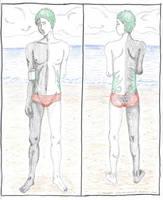 Zetsu the Swimsuit Model by objoyful