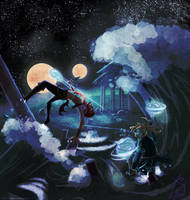 Full moon brawl by iisjah