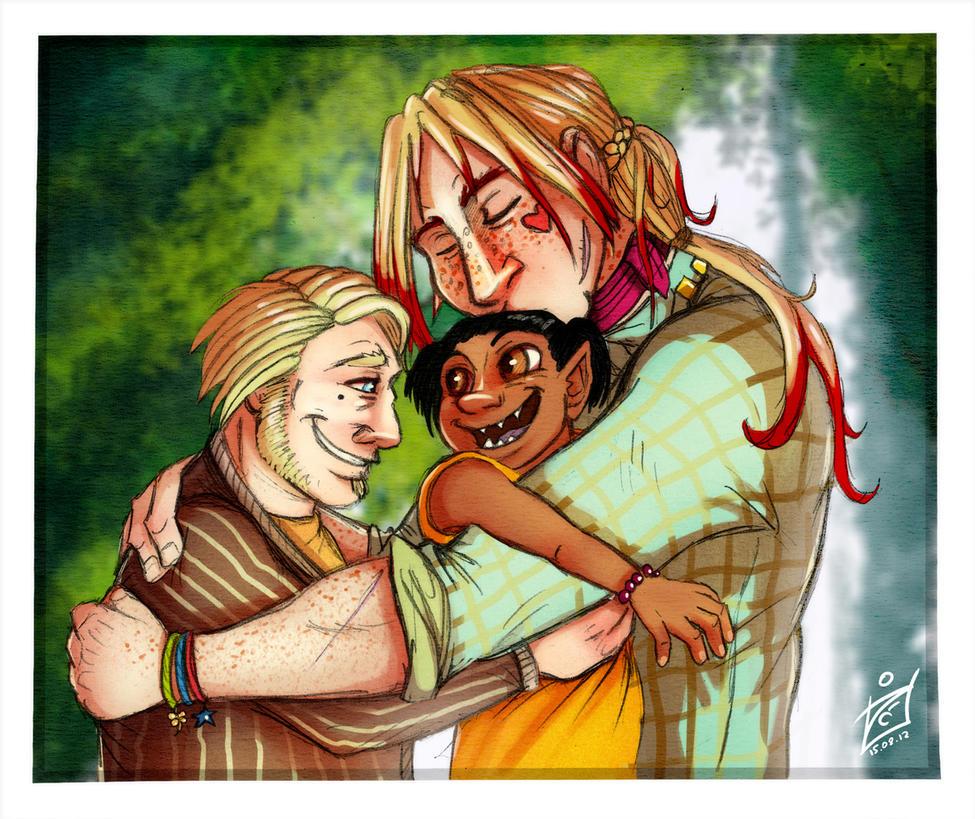 Happy family by iisjah