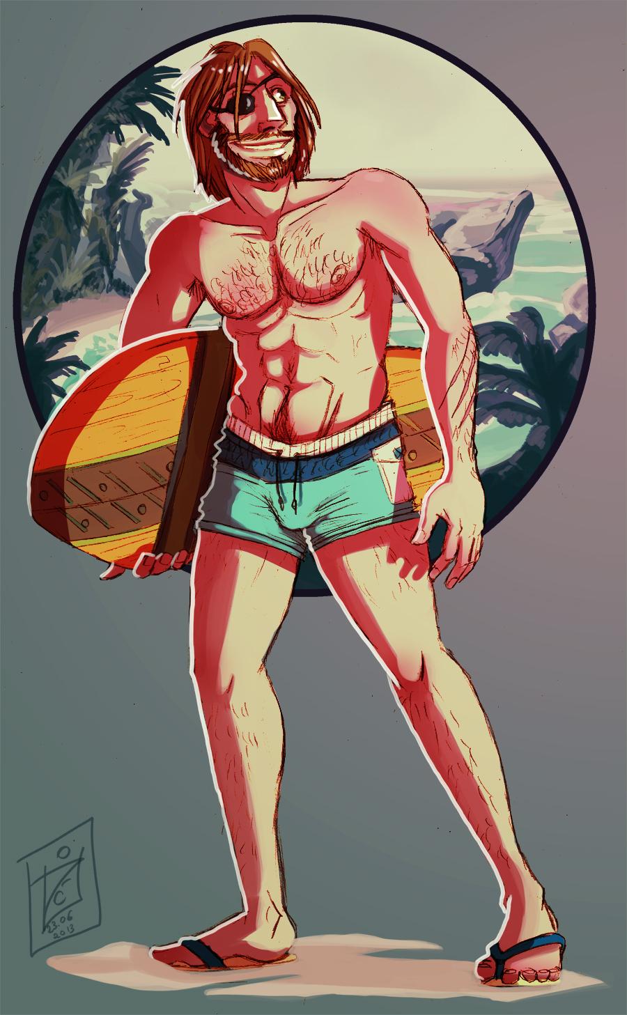 Zraffe - swimsuit commission by iisjah