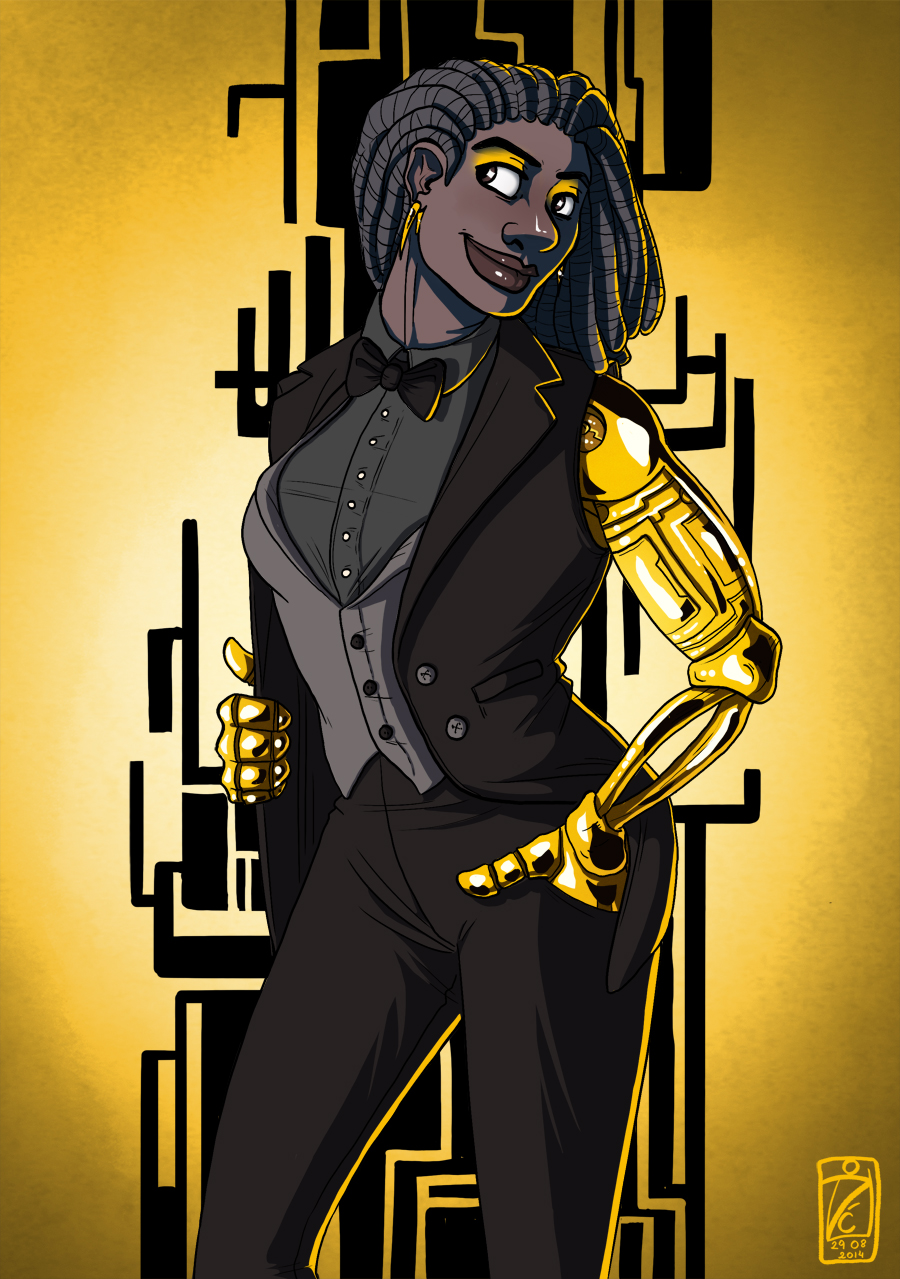 Girl with golden arms - contest entry