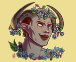 Semah - flower portrait commission