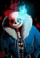Spooky scary skeleton by iisjah