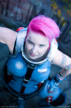 What are you looking at - Zarya cosplay 2018