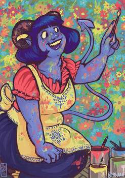 Jester painting