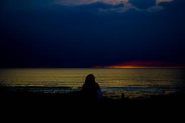 North Sea Sunset by boraakbay