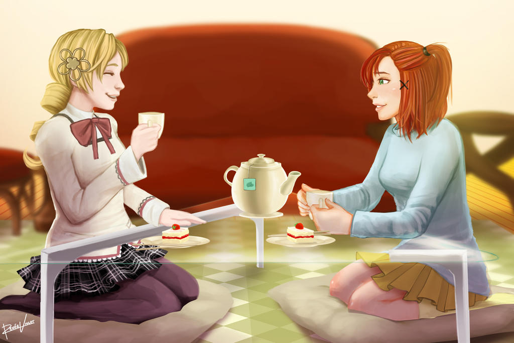 time for cake and tea by reneeviolet on deviantart