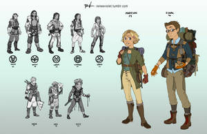 Character Designs - College Assignment by ReneeViolet