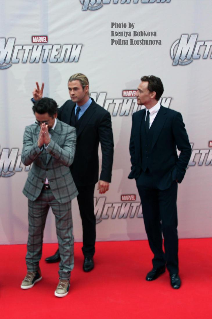 Thor, Loki and Iron Man. by kitsunesunny