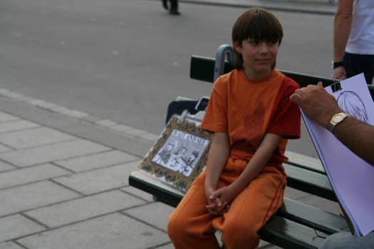 Child boy in Paris