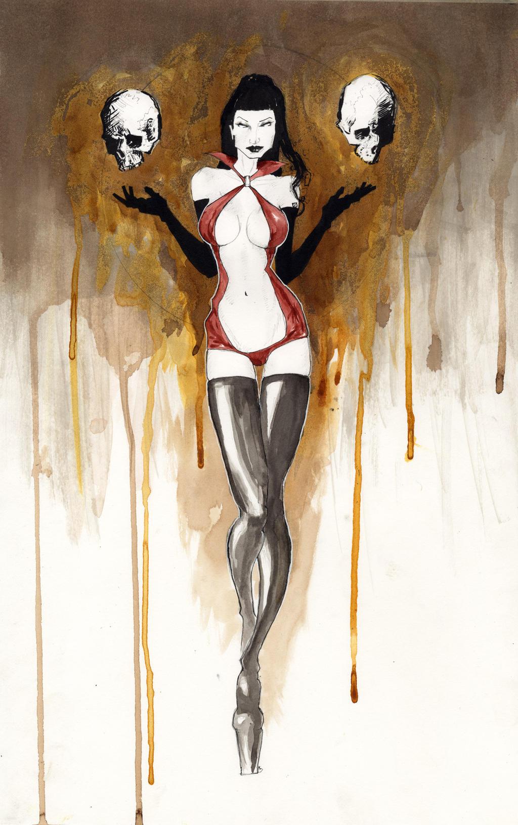 vampirella con sketch by menton3