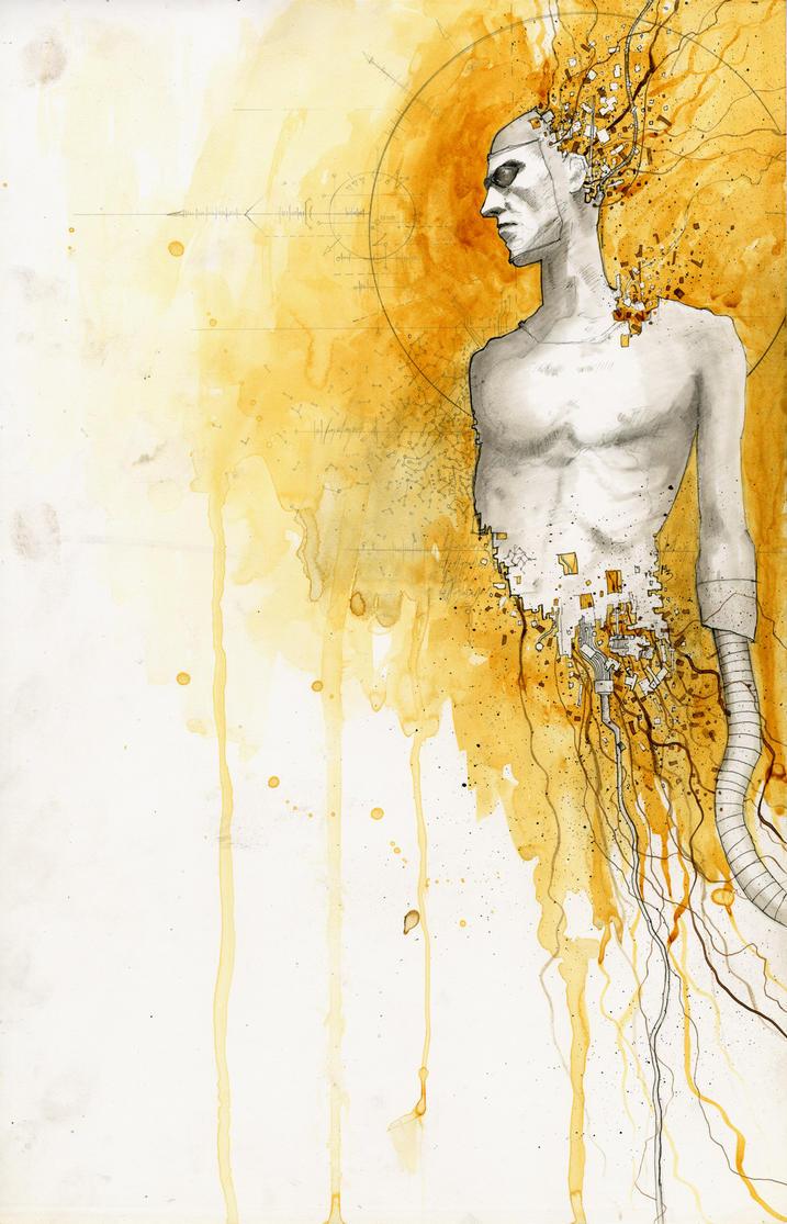 Machine Man con sketch by menton3
