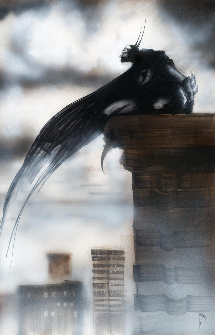 Batman rooftop 1 by menton3