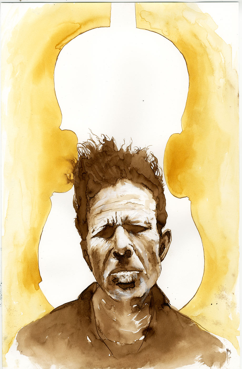 Tom Waits by menton3