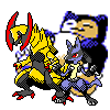Pokemon - Lucario/Haxorus Gen 2 Recolour Attempt by ConfirmedGhost