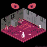 Pixel Dailies: Escape Room (Gray version) by SymbolsWriter