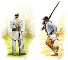 Confederate Soldiers by hardbodies