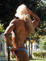 Muscle Girl in the Garden