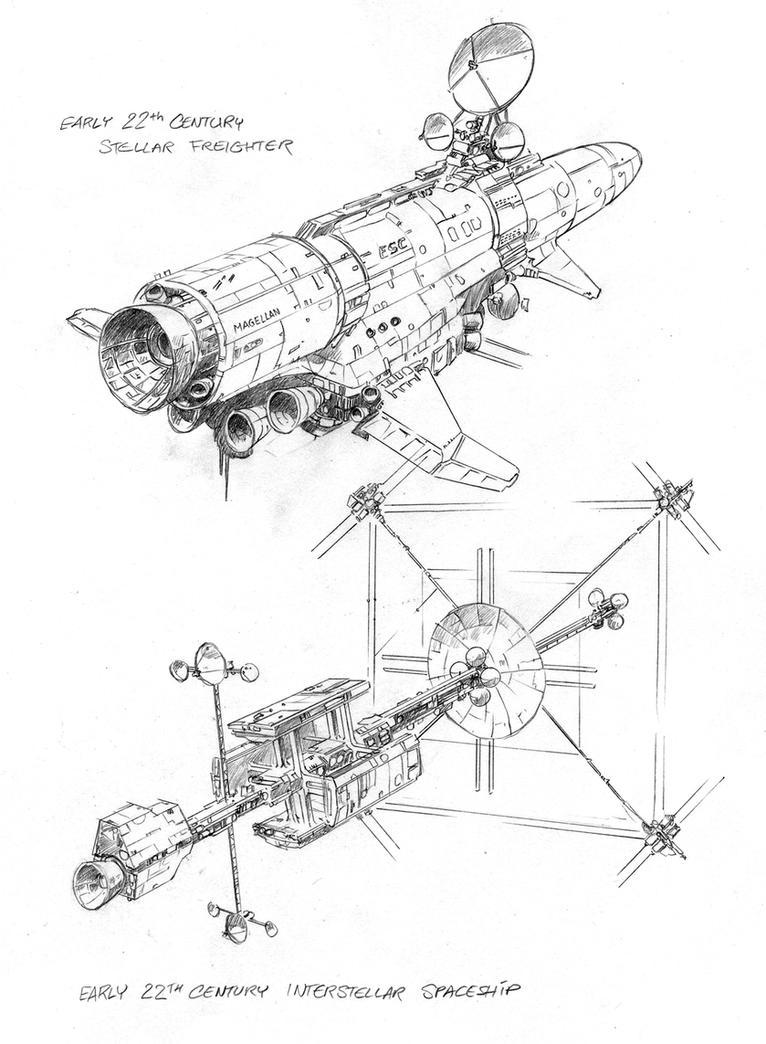 Primitive Spaceships by hardbodies